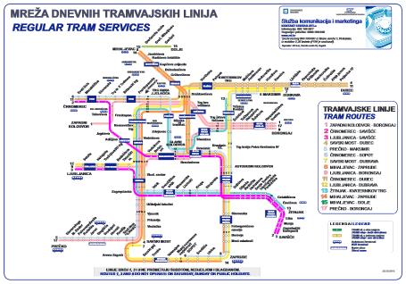 Zagreb - Tramvaj Map
